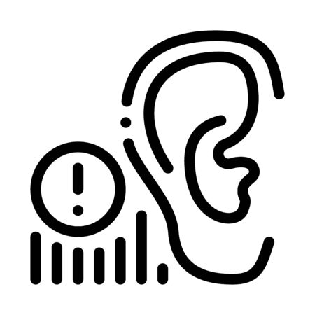 human hearing warning icon vector. human hearing warning sign. isolated contour symbol illustration Stock Illustratie