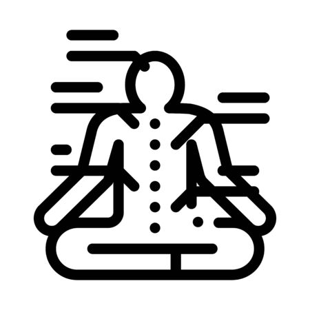 yogi traditional chinese medicine icon vector outline illustration Illustration