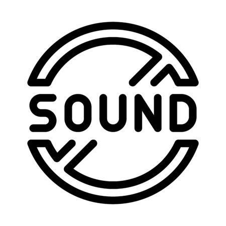 sound ban icon vector. sound ban sign. isolated contour symbol illustration Stock Illustratie