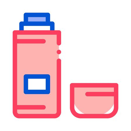 flask with liquid icon vector.
