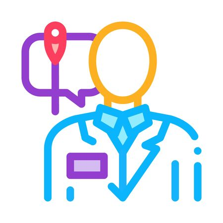 doctor acupuncture specialist icon vector. doctor acupuncture specialist sign. color symbol illustration