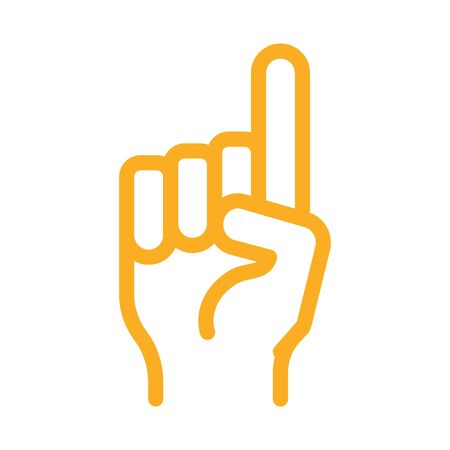 finger pointing up icon vector. finger pointing up sign. color symbol illustration
