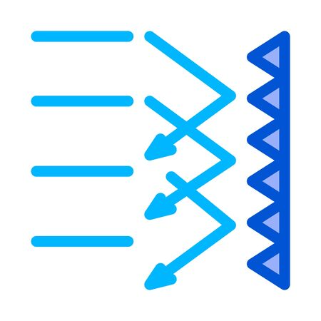 sound obstacle icon vector. sound obstacle sign. color symbol illustration