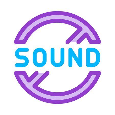 sound ban icon vector. sound ban sign. color symbol illustration Stock Illustratie