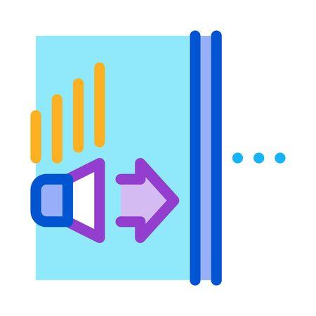 sound speaker operation icon vector. sound speaker operation sign. color symbol illustration