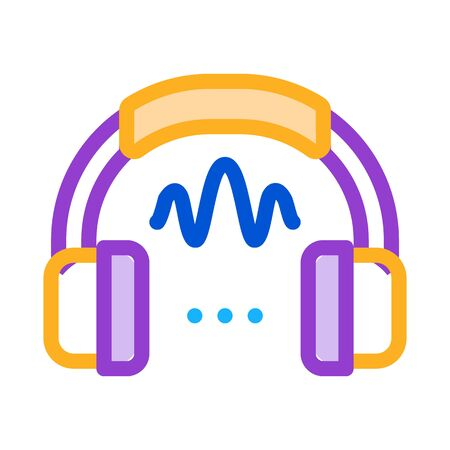 headphone sound icon vector. headphone sound sign. color symbol illustration Stock Illustratie