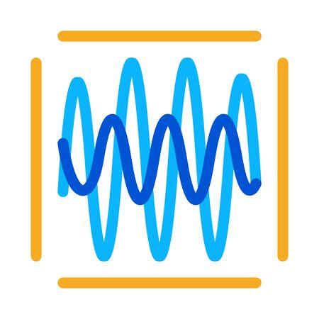 sound diagnostics icon vector. sound diagnostics sign. color symbol illustration