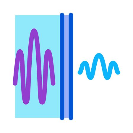sound and silence icon vector. sound and silence sign. color symbol illustration
