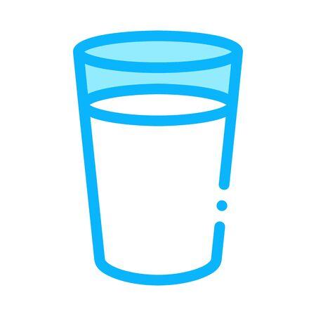 glass of milk icon vector. glass of milk sign. color symbol illustration