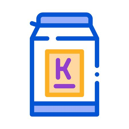 can of kefir icon vector. can of kefir sign. color symbol illustration 矢量图像