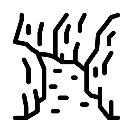 current river among gorge icon vector. current river among gorge sign. isolated contour symbol illustration 일러스트