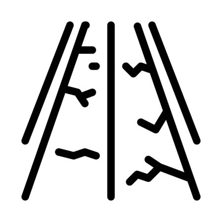 fault gorge on road icon vector. fault gorge on road sign. isolated contour symbol illustration 일러스트