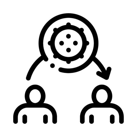 transmission of viruses to another person icon vector. transmission of viruses to another person sign. isolated contour symbol illustration