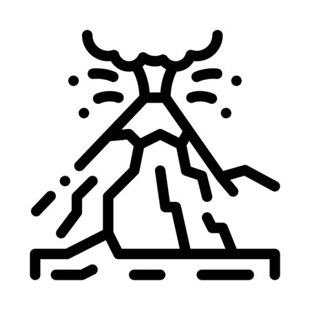mountain eruption icon vector. mountain eruption sign. isolated contour symbol illustration