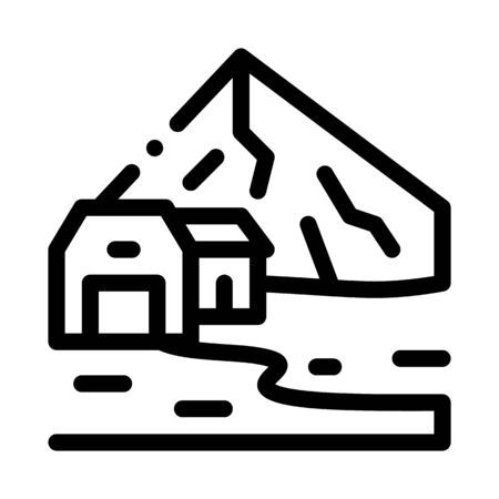 residential buildings in highlands icon vector. residential buildings in highlands sign. isolated contour symbol illustration 向量圖像