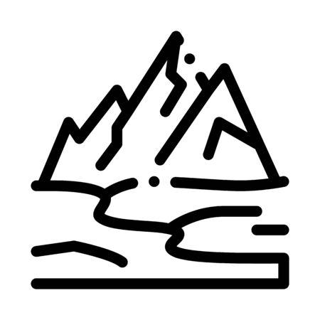 high mountains terrain icon vector. high mountains terrain sign. isolated contour symbol illustration 向量圖像