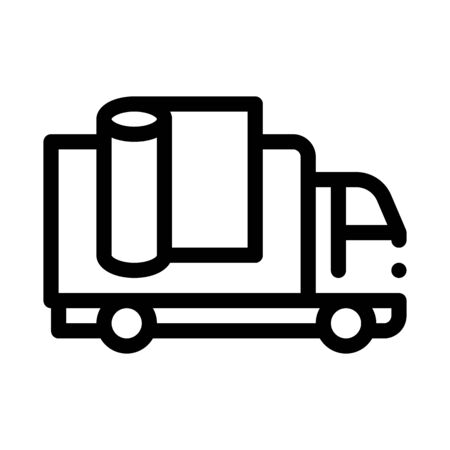 carpet cleaning truck icon vector. carpet cleaning truck sign. isolated contour symbol illustration