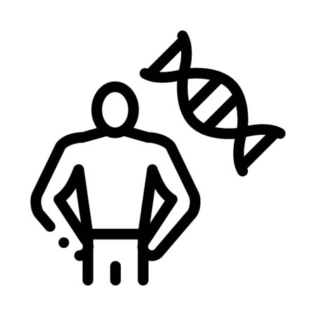 healthy human blood dna icon vector. healthy human blood dna sign. isolated contour symbol illustration Illustration