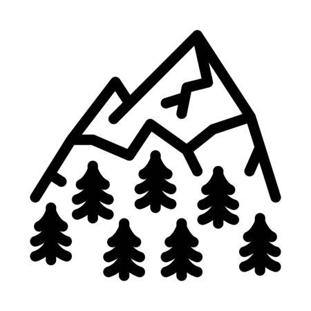mountain landskape with vegetation icon vector. mountain landskape with vegetation sign. isolated contour symbol illustration