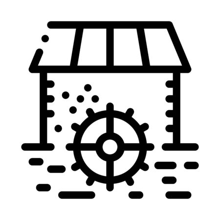 house by river icon vector. house by river sign. isolated contour symbol illustration 일러스트