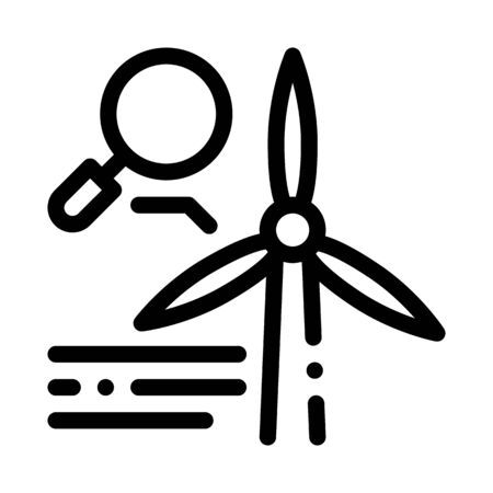 study of windmill icon vector. study of windmill sign. isolated contour symbol illustration Illustration