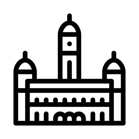 sultan palace abdul - samad icon vector. sultan palace abdul - samad sign. isolated contour symbol illustration