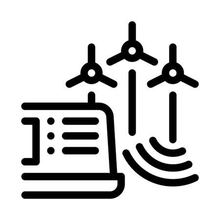 management of wind energy technicians icon vector. management of wind energy technicians sign. isolated contour symbol illustration Illustration