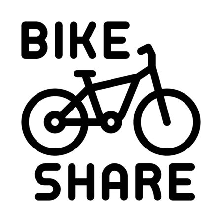 bike sharing services icon vector. bike sharing services sign. isolated contour symbol illustration