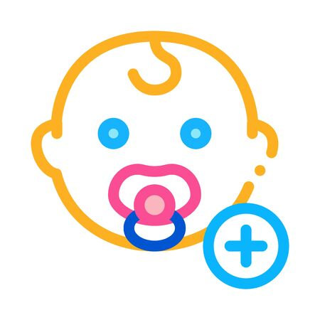 newborn baby toddler icon vector. newborn baby toddler sign. color symbol illustration Illustration