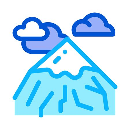 head of mountain icon vector. head of mountain sign. color symbol illustration