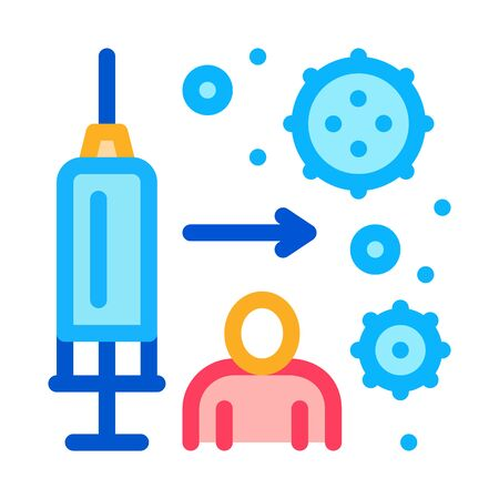 immune injection icon vector. immune injection sign. color symbol illustration Illustration
