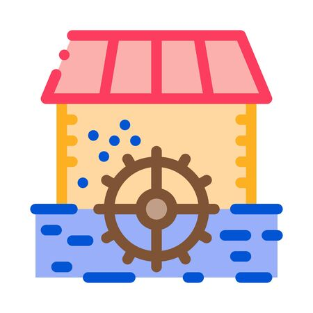river landscape with islets icon vector. river landscape with islets sign. color symbol illustration