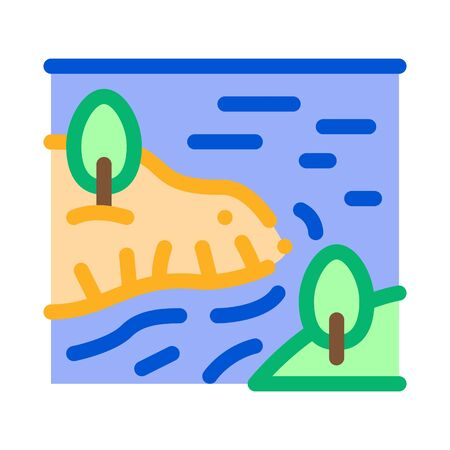 river among mountains icon vector. river among mountains sign. color symbol illustration
