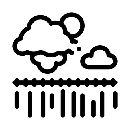 bad weather wheat field icon vector. bad weather wheat field sign. isolated contour symbol illustration