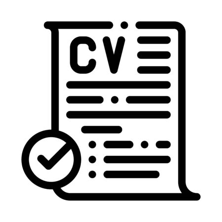 applicants for one job icon vector. applicants for one job sign. isolated contour symbol illustration
