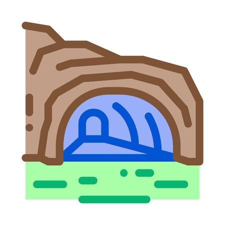 mountain cave gorge icon vector. mountain cave gorge sign. color symbol illustration 일러스트