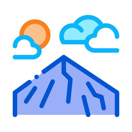 mountain peak icon vector. mountain peak sign. color symbol illustration