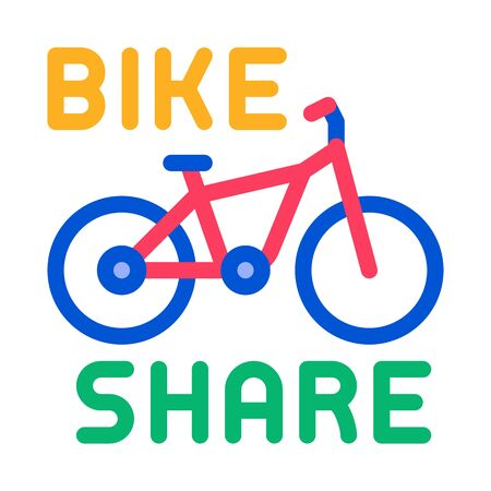bike sharing services icon vector. bike sharing services sign. color symbol illustration