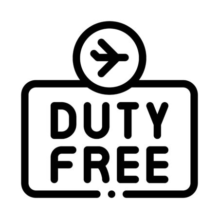 duty free sign icon vector. duty free sign sign. isolated contour symbol illustration Illusztráció