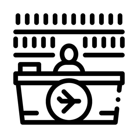 appearance of duty free counter icon vector. appearance of duty free counter sign. isolated contour symbol illustration