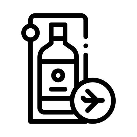 purchased duty free alcohol icon vector. purchased duty free alcohol sign. isolated contour symbol illustration