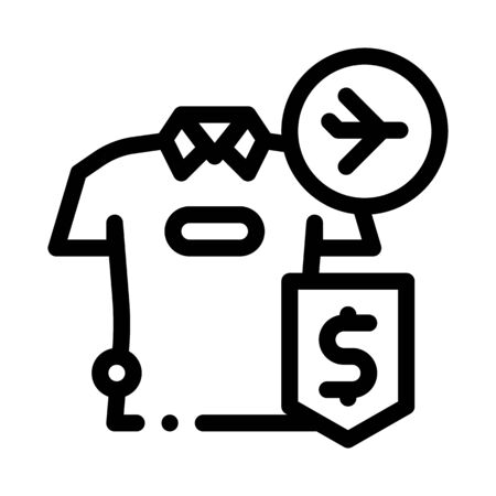 purchase cash t-shirt duty free icon vector. purchase cash t-shirt duty free sign. isolated contour symbol illustration Illusztráció