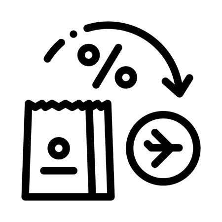 take food from duty free to plane icon vector. take food from duty free to plane sign. isolated contour symbol illustration Illusztráció