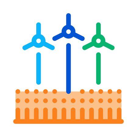 wind energy technicians icon vector. wind energy technicians sign. color symbol illustration Illustration