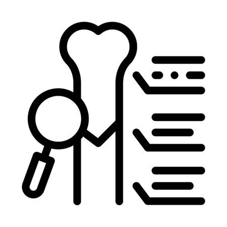 study bone joint icon vector. study bone joint sign. isolated contour symbol illustration Ilustrace