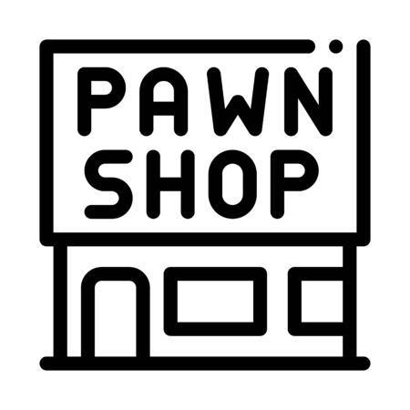appearance of pawnshop icon vector. appearance of pawnshop sign. isolated contour symbol illustration 向量圖像