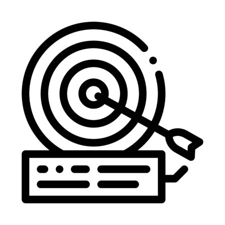 dart hit target icon vector. dart hit target sign. isolated contour symbol illustration