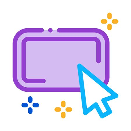 click on optimization button icon vector. click on optimization button sign. isolated contour symbol illustration Ilustrace