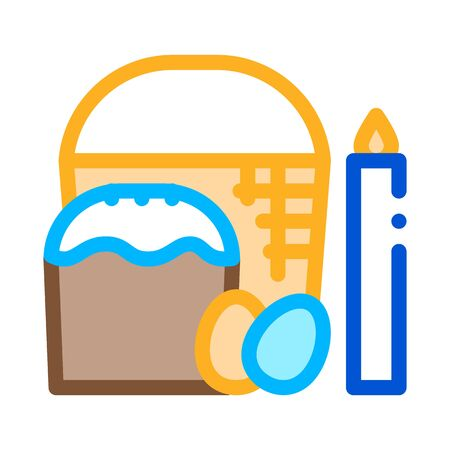 consecration of aster and eggs icon vector outline illustration