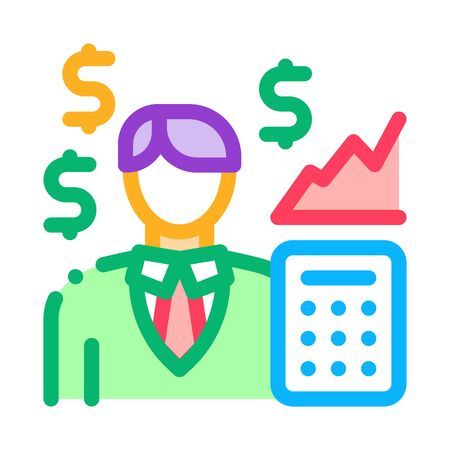 realtor transfers profit icon vector. realtor transfers profit sign. isolated contour symbol illustration Ilustrace